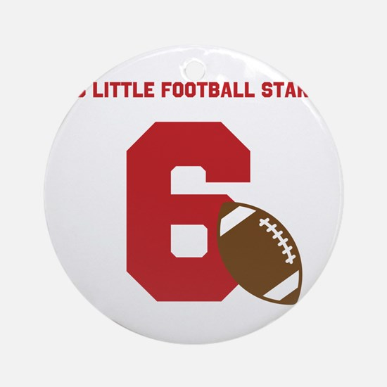 Football Star Custom Age Ornament (Round)
