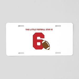 Football Star Custom Age Aluminum License Plate