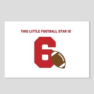Football Star Custom Age Postcards (Package of 8)