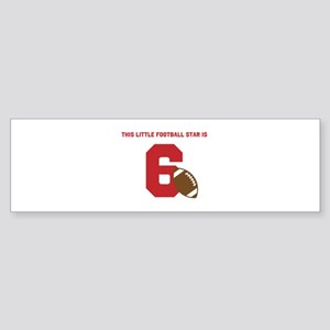 Football Star Custom Age Bumper Sticker
