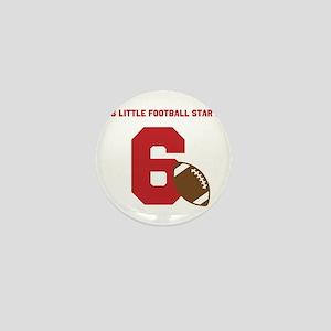 Football Star Custom Age Mini Button