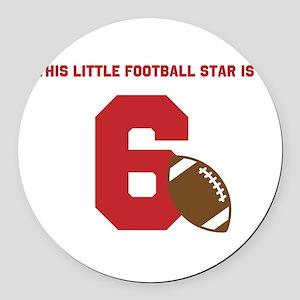 Football Star Custom Age Round Car Magnet