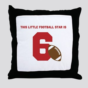 Football Star Custom Age Throw Pillow