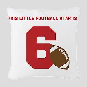 Football Star Custom Age Woven Throw Pillow