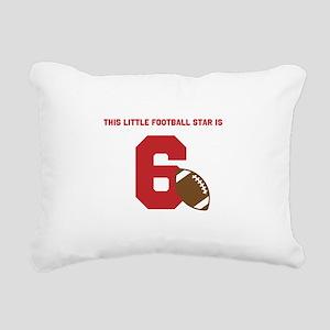 Football Star Custom Age Rectangular Canvas Pillow