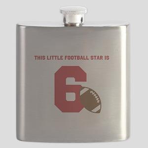 Football Star Custom Age Flask