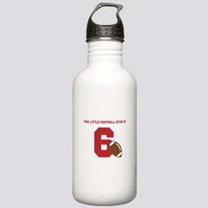 Football Star Custom Age Sports Water Bottle