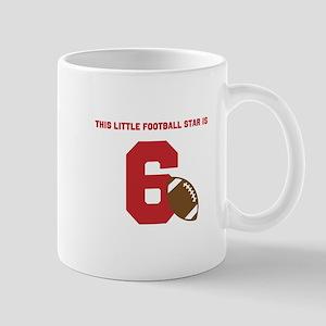 Football Star Custom Age Mugs