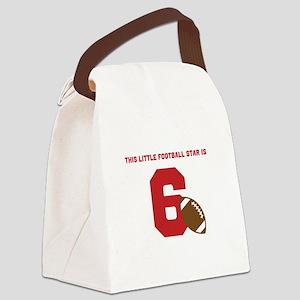 Football Star Custom Age Canvas Lunch Bag