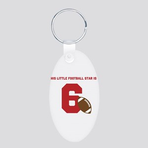 Football Star Custom Age Keychains