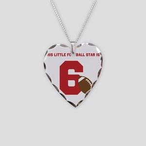 Football Star Custom Age Necklace Heart Charm