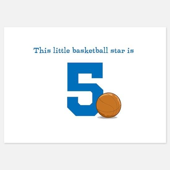 Basketball Star Custom Age Invitations