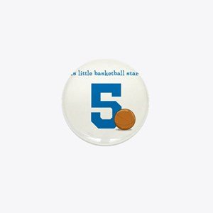 Basketball Star Custom Age Mini Button