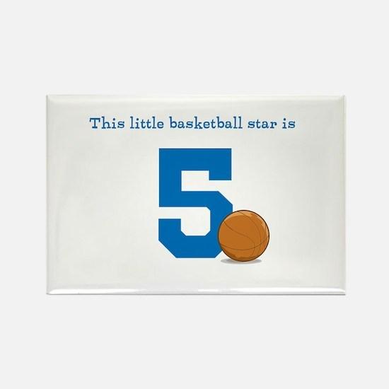 Basketball Star Custom Age Magnets