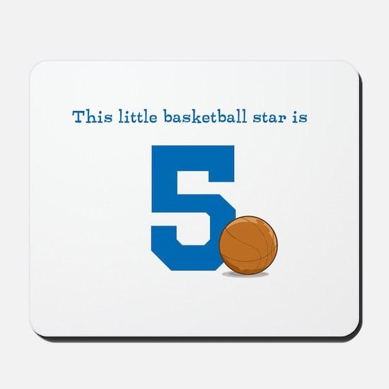 Basketball Star Custom Age Mousepad