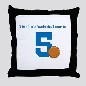 Basketball Star Custom Age Throw Pillow