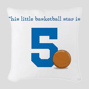 Basketball Star Custom Age Woven Throw Pillow