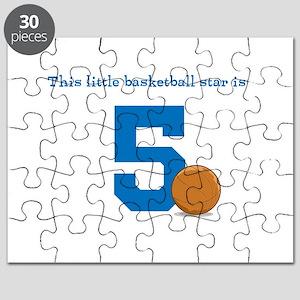 Basketball Star Custom Age Puzzle