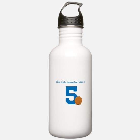 Basketball Star Custom Age Sports Water Bottle