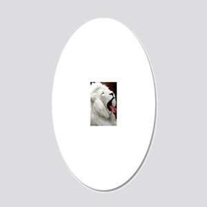 White Lion 3G case 20x12 Oval Wall Decal