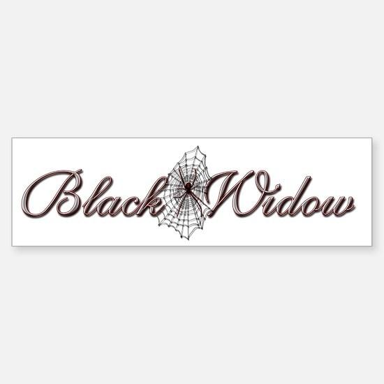Black Widow Bumper Bumper Bumper Sticker