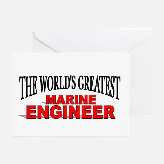 """The World's Greatest Marine Engineer"" Greeting Ca"