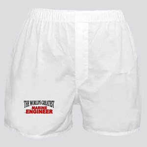 """The World's Greatest Marine Engineer"" Boxer Short"