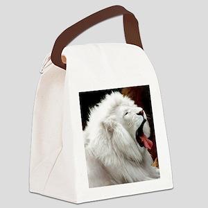 White Lion mousepad Canvas Lunch Bag