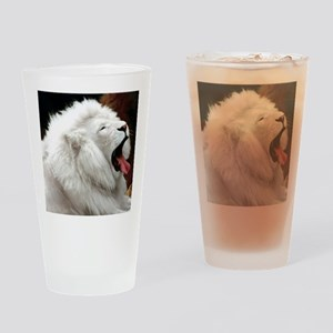White Lion mousepad Drinking Glass