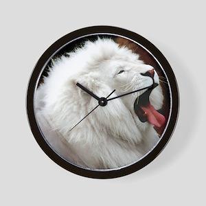 White Lion mousepad Wall Clock