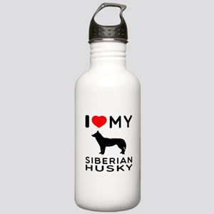 I love My Wire Fox Terrier Stainless Water Bottle