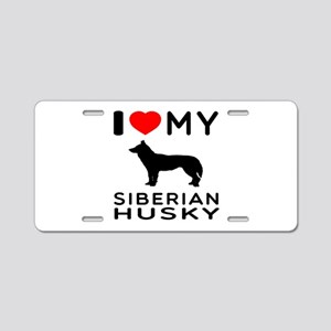 I love My Wire Fox Terrier Aluminum License Plate