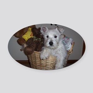 billy_westies Oval Car Magnet