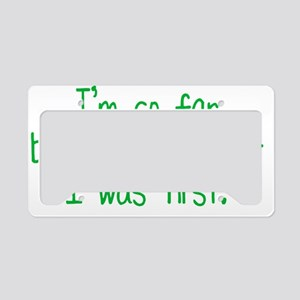farbehindBTLEgreen License Plate Holder