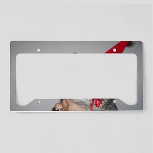 Holiday Chinchilla License Plate Holder