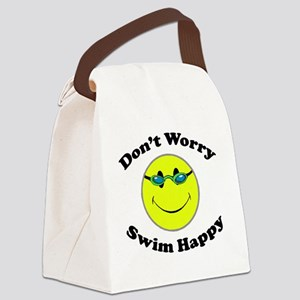 Don't Worry Swim Happy Canvas Lunch Bag