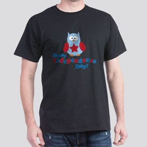 Happy Independence Day Owl Dark T-Shirt