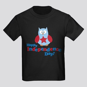 Happy Independence Day Owl Kids Dark T-Shirt
