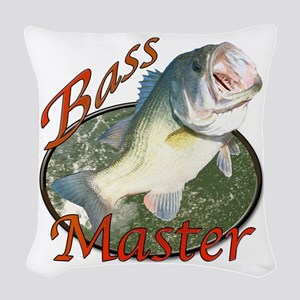 Bass Master Woven Throw Pillow