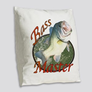 Bass master Burlap Throw Pillow