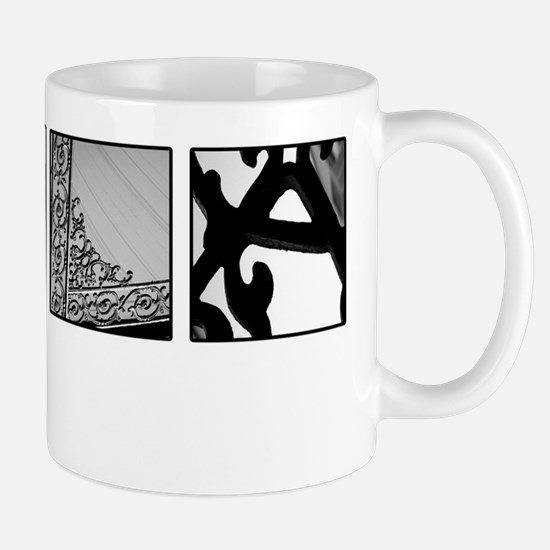 NOLA new orleans black and white Mug