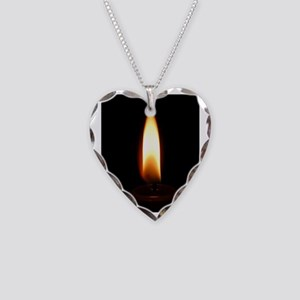 Fire_9.5x8 Necklace Heart Charm