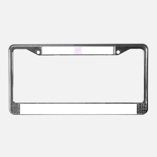Hearts shower with love License Plate Frame