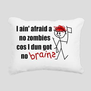 afraidanozomb_9x7.5_mpad Rectangular Canvas Pillow