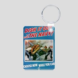 Dish it Out Aluminum Photo Keychain