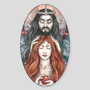 Hades  Persephone Sticker (Oval)