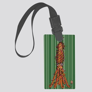 Merry Squidmas Large Luggage Tag