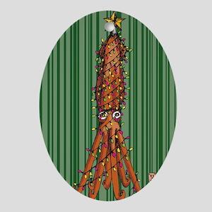 Merry Squidmas Oval Ornament