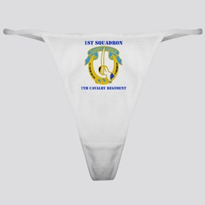 7TH CAV RGT WITH TEXT Classic Thong