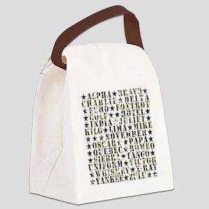 CamoABCs Canvas Lunch Bag